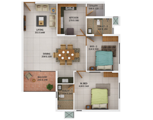 3 bhk flats in trivandrum